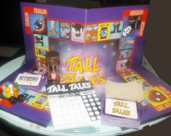 Vintage (1988) Waddingtons Tall Tales Storytelling board game. Complete. Wooden playing pieces.