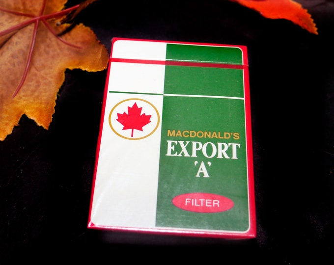 Vintage (1981) Export A Macdonalds Tobacco playing cards. New in sealed package. Made in Canada. Great man gift | stocking stuffer.