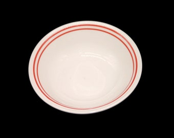 Vintage (1980s) Biltons Red Bands coupe cereal bowl. Vintage hotelware | restaurantware made in England. Sold individually.