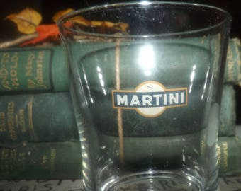 Vintage (1980s) Martini | Martini & Rossi etched-glass branded on-the-rocks, whisky, lo-ball or old-fashioned glass.