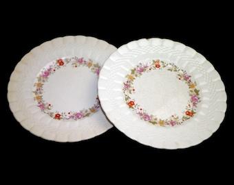 Pair of vintage (1930s) Simpsons Potters SIM6 salad or side plates made in England. Flaws (see below).
