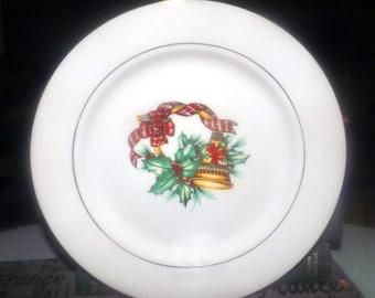 Vintage Sonata Noel salad or side plate. Christmas Porcelain. Sold individually.