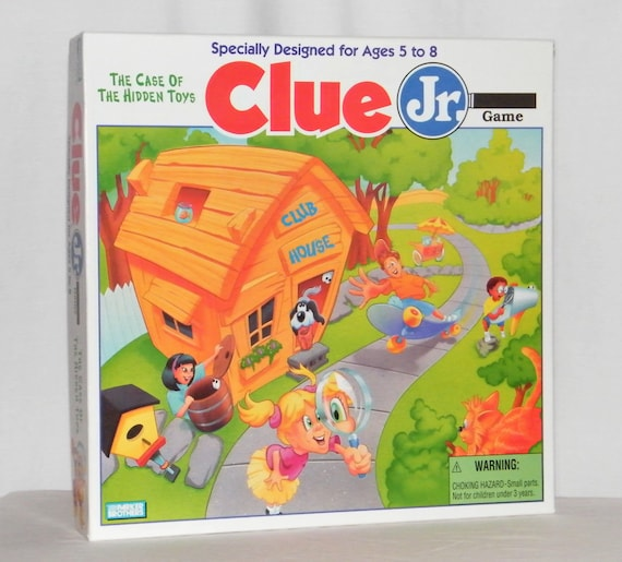 Vintage 1995 Clue Jr The Case Of The Hidden Toys Board Game Etsy
