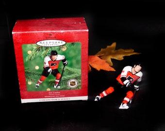Hallmark Keepsakes Hockey Greats Series Christmas Tree Ornament. Eric Lindros Philadelphia Flyers. Original box, insert.