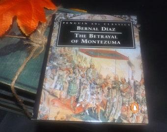 Vintage (1995) paperback mini book The Betrayal of Montezuma by Bernal Diaz del Castillo. Penguin 60s Classics. Aztec history.