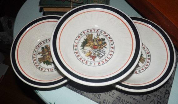 Set of 5 vintage 1980s Tre Ci Heritage Collection rimmed | Etsy