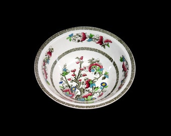 Antique art nouveau Johnson Brothers Indian Tree round rimmed vegetable serving bowl. Hand-decorated made in England.