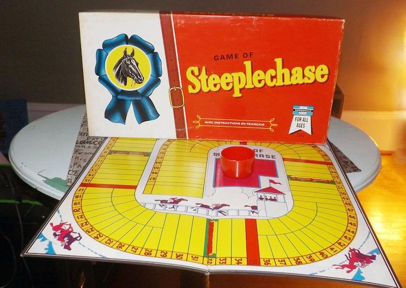 Case Blue Board Game : Vintage 1960s steeplechase horse racing board game published etsy