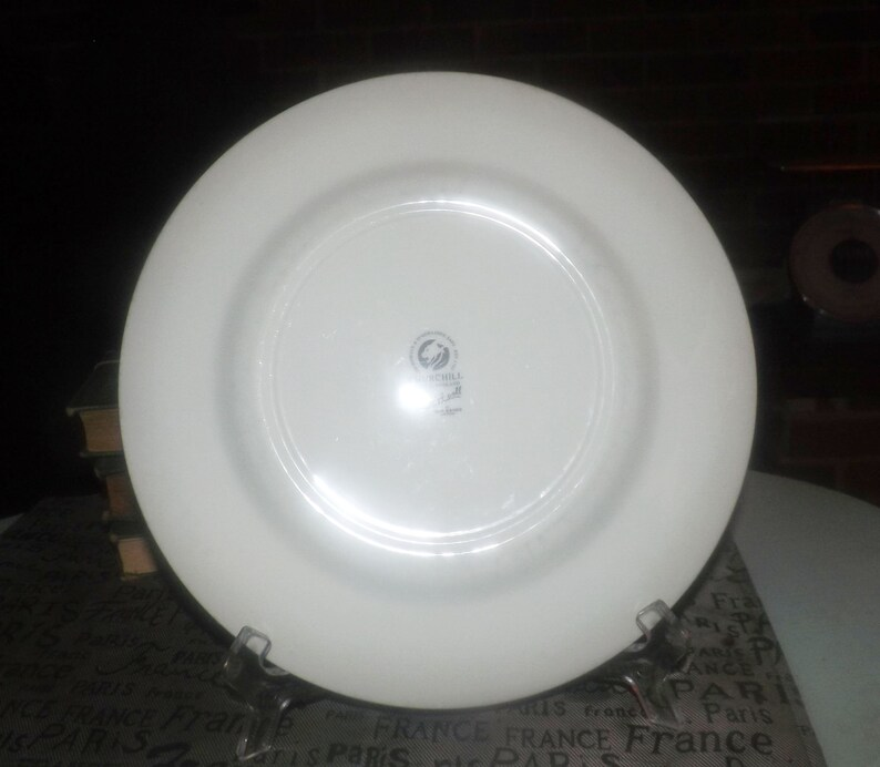 1999 Churchill China Prague pattern dinner plate Jeff Banks Ports of Call series Made in England. charger Vintage