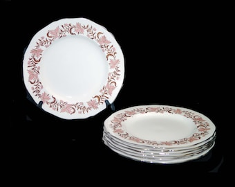 Mid century Grosvenor Bone China Rhapsody large dinner plate made in England. Sold individually.