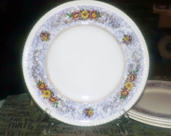 Almost antique (1920s) George Jones   Crescent Pottery The Windsor large dinner plate made in England. Sold individually.