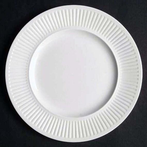 1960s through 1980s. Set of three Johnson Brothers Athena White all-dinner plates