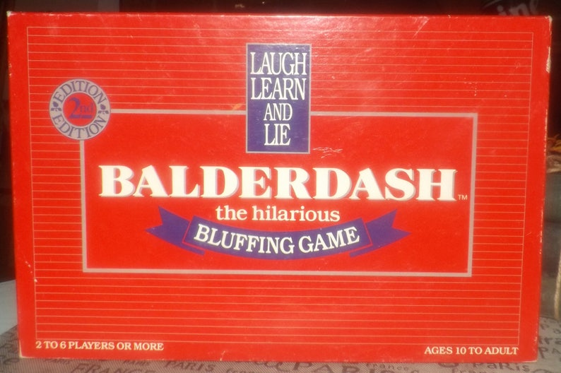 HILARIOUS BLUFFING GAME 50 BALDERDASH CARDS CALL MY BLUFF PARTY FUN