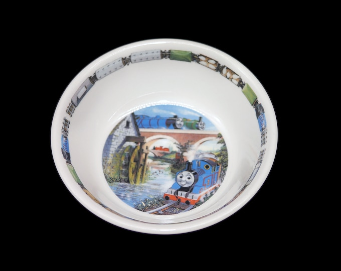Vintage (1998) Wedgwood Thomas the Tank Engine child's cereal, porridge, oatmeal bowl made in England. Sold individually.