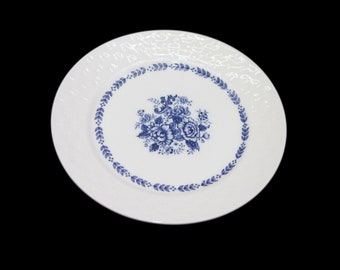 Vintage Mayfair Royal Florence blue-and-white salad or side plate made in Japan. Sold individually.