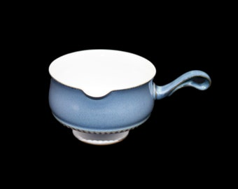 Vintage (1980s) Denby Castile footed stoneware gravy boat only. Vintage stoneware made in England.