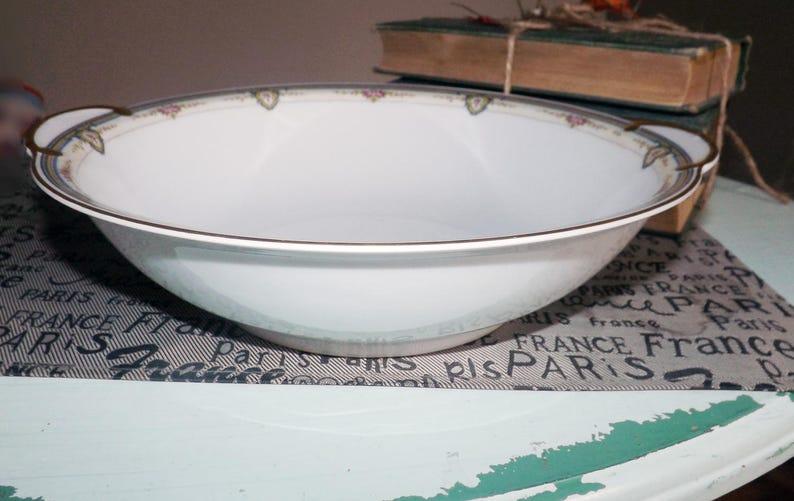 1908 Antique Rosenthal The Belvedere lugged art-nouveau vegetable roses. serving bowl Abundant gold Thomas Bavaria