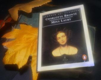 Vintage (1995) paperback mini book Mina Laury written by Charlotte Bronte. Penguin 60s Classics.