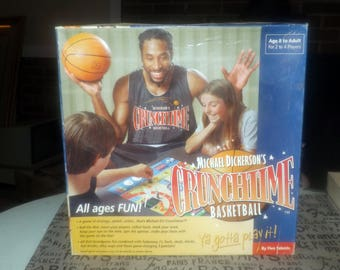 Michael Dickerson's Crunchtime Basketball board game. Made in Canada by boutique game house Five Talents Games. Missing one player pawn.