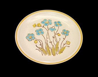 Vintage (1980s) Hearthside Highland Flowers hand-painted dinner plate. Garden Festival stoneware made in Japan. Sold individually.