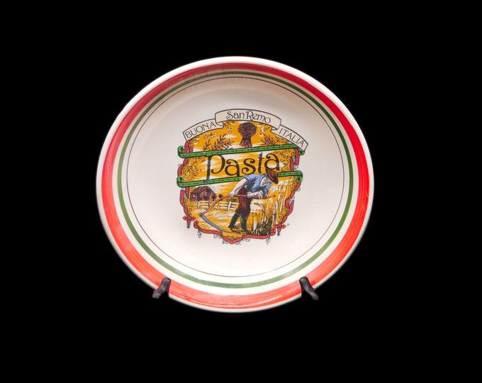 Vintage (1980s) Castellinia San Remo Buona Italia pasta serving bowl made in Italy.