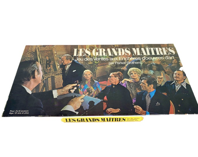 Vintage (1970) Masterpiece | Les Grandes Maitres Board Game. French Version. Published by Parker Brothers. Complete. Made in Canada.