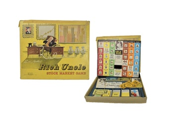 Mid century (1959) Rich Uncle board game published by Parker Brothers. Complete. Made in the USA.