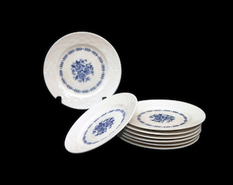Vintage Mayfair Royal Florence blue-and-white bread, dessert, side plate made in Japan. Sold individually.