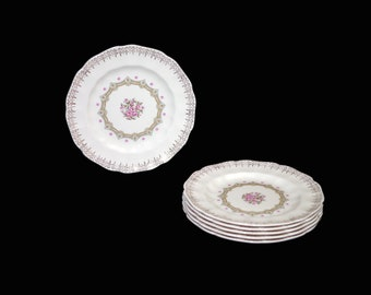 Vintage (1960s) Sovereign Potters Fidelity bread, dessert, side plate. English ironstone decorated in Canada. Sold individually.