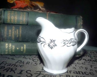 Vintage (1964) Royal Tuscan | Tuscan China Silver Heritage creamer | milk jug. Made in England.