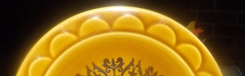 Vintage embossed rim. Homer Laughlin Castilian stoneware bread-and-butter Retro black geometric or side plate 1960s dessert Coventry