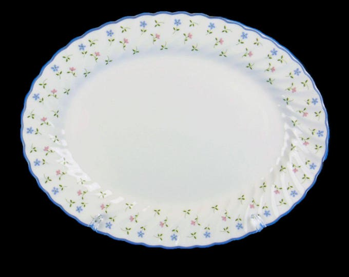 Vintage (1980s) Johnson Brothers Melody oval vegetable serving platter made in England.