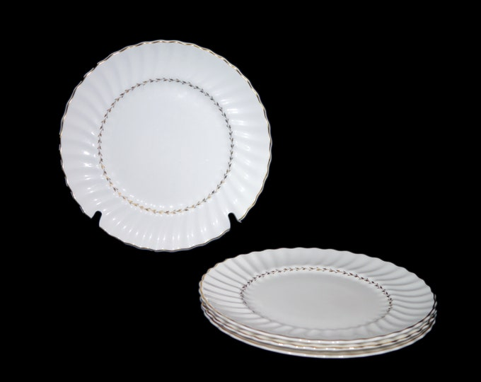 Vintage (1980s) Royal Doulton Adrian H4816 large dinner plate made in England. Sold individually.