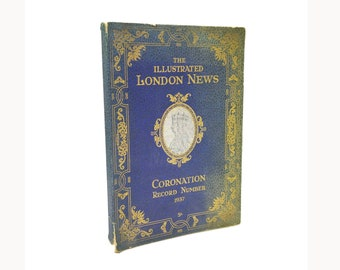 Vintage (1937) Illustrated London News Coronation Record 1937 soft cover commemorative book of Coronation of King George VI England.
