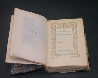 Antiquarian first-edition book (1878) The Complete Works of George Eliot Vol III Mill on the Floss. Thomas Crowell.