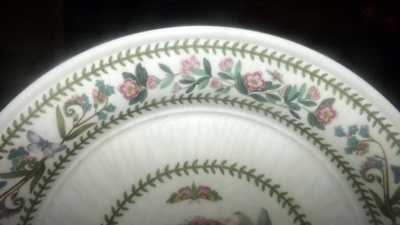 Vintage Shrubby Peony. Botanic Garden by Susan Ellis Williams large dinner plate featuring Peonia Moutan 1991 Portmeirion Variations