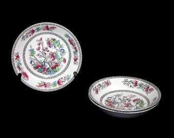 Johnson Brothers Indian Tree coupe soup bowl. Hand-decorated made in England. Sold individually.