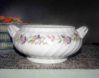 Vintage (1960s) Creative Regency Rose 2345 handled vegetable serving bowl made in Japan. No lid.
