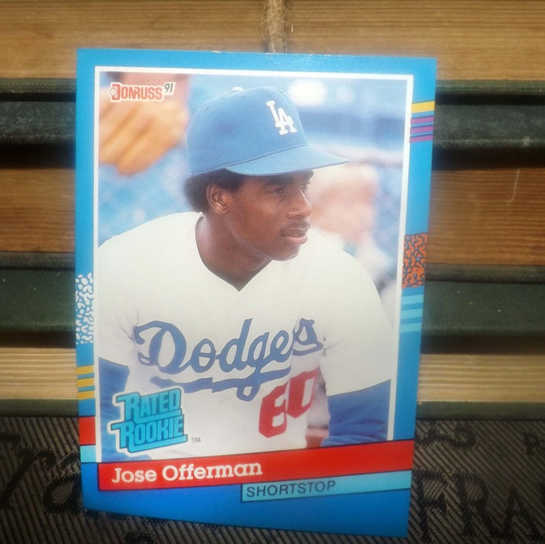 Vintage 1991 Donruss Baseball Card 33 Jose Offerman Rr Shortstop Brooklyn Dodgers