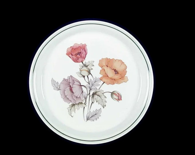 Vintage (1980s) Nitto Royal Garden 9837 large stoneware dinner plate. Heather Stone stoneware made in Japan.