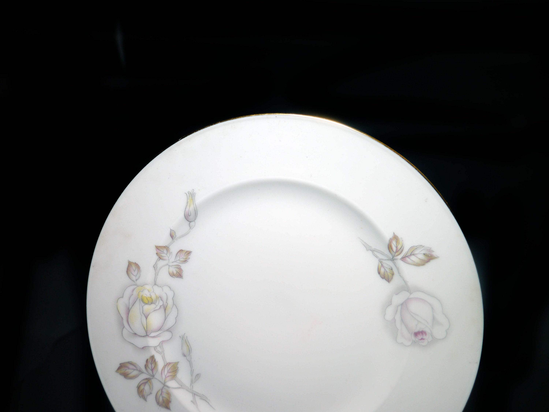 or berry bowl. dessert 1960s Johann Haviland Germany Sweetheart Rose fruit nappie Vintage