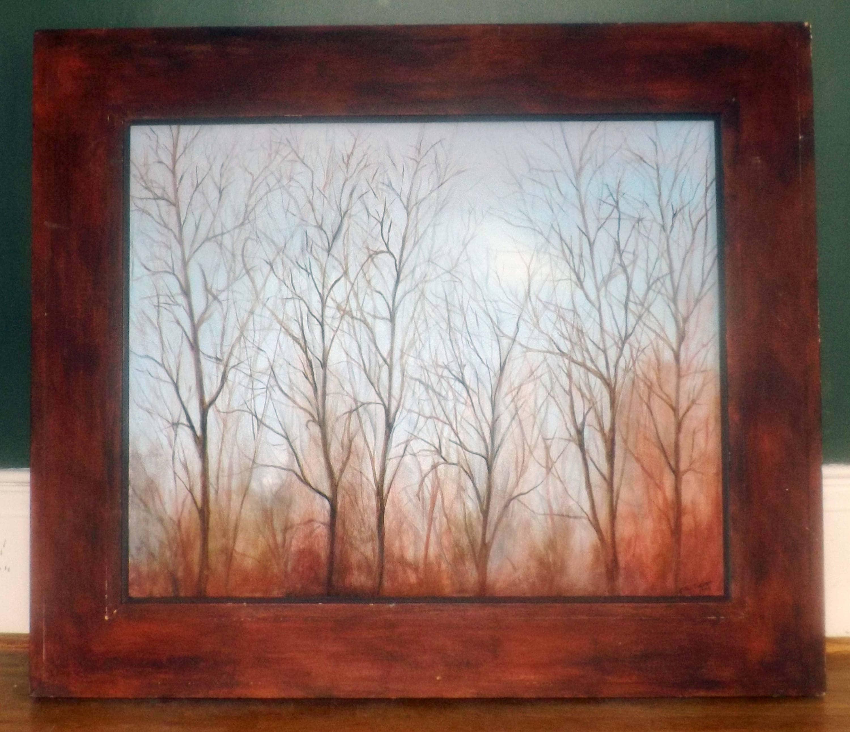 Vintage (1998) Paul Chester Original Oil on Canvas Winter Sun in ...