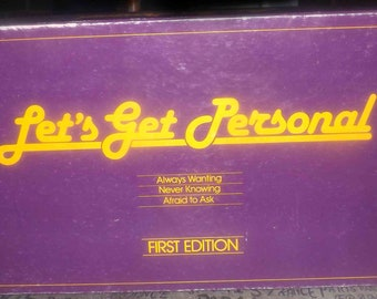 Vintage (1984) Let's Get Personal adult | party board game. First Edition copy published by Selchow and Righter.  Complete.