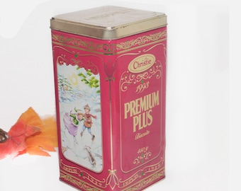 Vintage (1993) Christie Premium Plus Crackers Special Edition 1993 Christmas tin with lid.