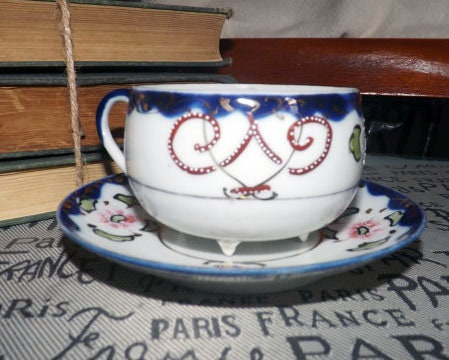 Vintage (1930s) hand-painted Nippon moriage dragonware tea