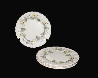 Vintage (1960s) Myott Staffordshire Westmoreland luncheon plate. Old Chelsea ironstone made in England. Sold individually.