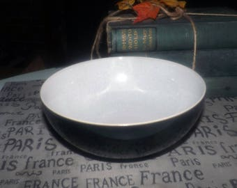 Denby Black Pepper stoneware cereal bowl made in England. Sold individually.