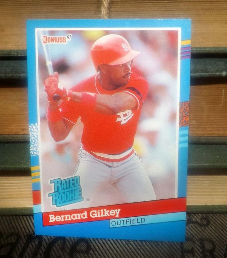 Vintage 1991 Donruss Baseball Card 30 Bernard Gilkey Rr Outfield St Louis Cardinals