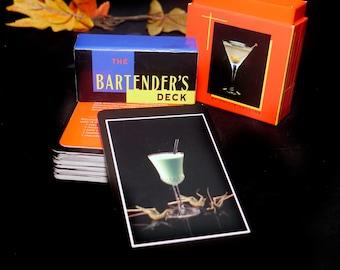 Vintage (1997) The Bartender's Deck drink | cocktails illustrated recipe cards. Great man gift, stocking stuffer, home bar. Fillip Films.