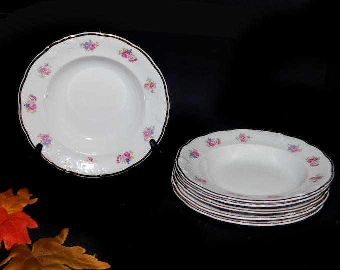 Vintage (1970s) Wawel WAV65 rimmed soup bowl made in Poland. Sold individually.